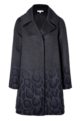 Paule Ka Wool Angora Coat With Leopard