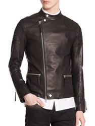Helmut Lang Rider Leather Moto Jacket Black