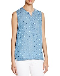 4Our Dreamers Printed Chambray Sleeveless Top Light