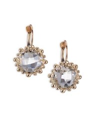 Anzie Dew Drop White Topaz And 18K Yellow Gold Earrings