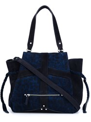 Jerome Dreyfuss Braided Detail Tote Blue