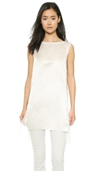 Donna Karan New York Sleeveless Tunic Chalk