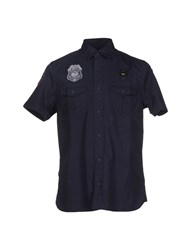 Blauer Shirts Shirts Men Dark Blue