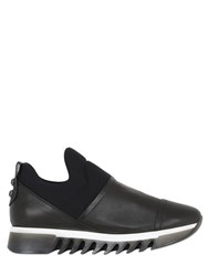 Alexander Smith 50Mm Neoprene And Leather Slip On Sneakers