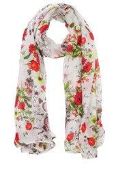 Oasis Wild Daisy Print Scarf Multi Coloured