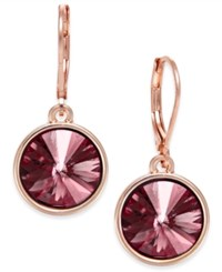Charter Club Bezel Set Crystal Earrings Only At Macy's Purple Rose