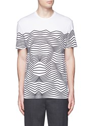 Neil Barrett Nautical Stripe Print T Shirt White