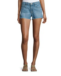 Frame Denim Le Cutoff Raw Edge Shorts Russell Cave Size 25