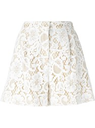 Msgm Lace Shorts White