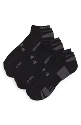 Under Armour Heatgear 'Trainer' No Show Socks 3 Pack Black