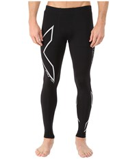 2Xu Hyoptik Thermal Compression Tights Black Silver Reflective Men's Workout