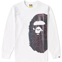 A Bathing Ape Pencil Neon Camo Side Big Head Lt Tee White