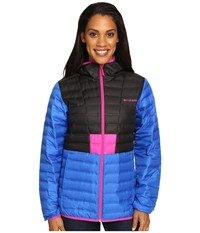 Columbia Flashback Down Jacket Blue Macaw Black Groovy Pink Women's Coat