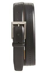 Magnanni Men's 'Catalux' Leather Belt Black