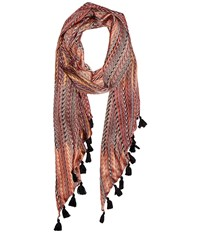 Bcbgmaxazria Chevron Scarf Rosewood Scarves Red