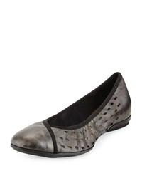 Sesto Meucci Aura Lasercut Leather Flat Black