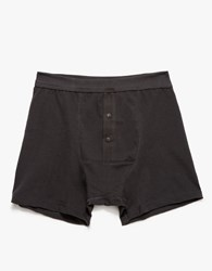 Button Facing Underpants Black