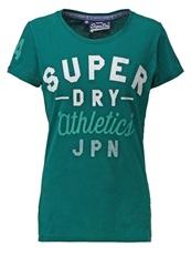Superdry Track State Entry Print Tshirt Forest Dark Green
