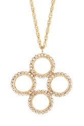 Liz Palacios Quad Crystal Circle Necklace No Color