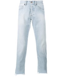Off White Frayed Cropped Jeans Blue Black White Grey Light Blue Off White D