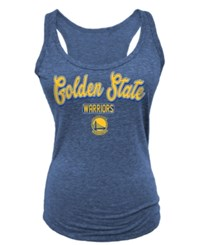 5Th And Ocean Women's Golden State Warriors Outline Tank Top Blue