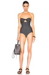 Lisa Marie Fernandez Poppy Bandeau Maillot In Black