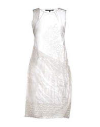 Alessandro Dell'acqua Knee Length Dresses White