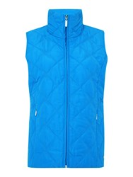 Tigi Stand Up Collar Gilet Azure