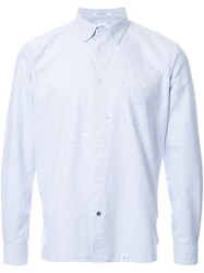 Bedwin And The Heartbreakers Spotted Button Down Shirt Grey
