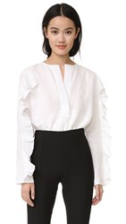 Georgia Alice Ruffle Blouse White
