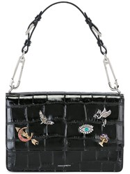 Alexander Mcqueen 'Obsession' Charms Safety Pin Tote Black