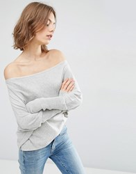 Asos Lounge Jumper In Asymmetric Shape With A Touch Of Cashmere Grey Nep