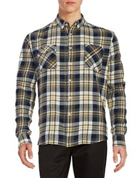 Barbour Plaid Sportshirt Yellow
