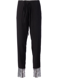Sharon Wauchob Drawstring Lace Ankle Trousers Black