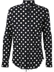 Saint Laurent Polka Dot Shirt Black
