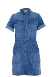 Current Elliott Trucker Shirt Dress Blue