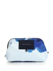 Marc By Marc Jacobs Big Bliz Framed Brushstroke Print Nylon Zip Pouch Blue