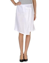 Almeria Knee Length Skirts White