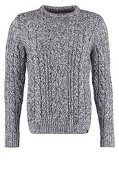 Superdry Jacob Heritage Jumper Black Twist Mottled Grey