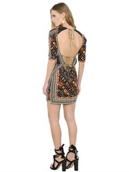 Isabel Marant Embroidered And Printed Silk Twill Dress