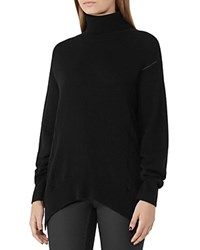 Reiss Daveen Cashmere Turtleneck Sweater Black