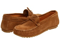 Minnetonka Classic Moc Taupe Suede Men's Moccasin Shoes