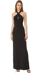 Ali And Jay Keyhole Halter Gown Black