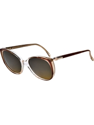 Yves Saint Laurent Vintage Oversized Sunglasses Brown