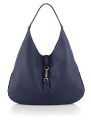 Gucci Jackie Soft Leather Hobo Bag Tabasco Caspian Blue