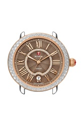 Michele 'Serein 16' Diamond Watch Case 34Mm X 36Mm Rose Gold Cocoa
