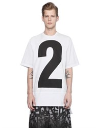 Dsquared Oversized Printed Cotton Jersey T Shirt