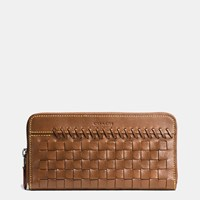 Coach Rip And Repair Accordion Wallet In Glovetanned Leather Dark Saddle