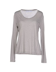 Superfine Topwear T Shirts Women Grey