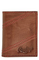Rawlings Sports Accessories Men's Two Strikes Leather Trifold Wallet